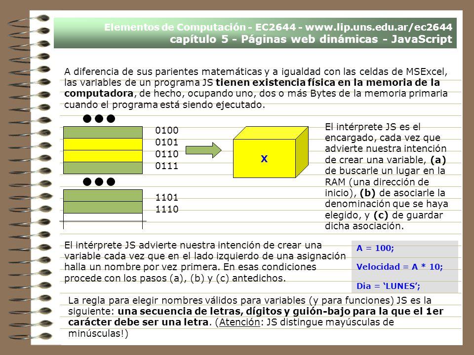 Elementos de Computación - EC2644 - www. lip. uns. edu