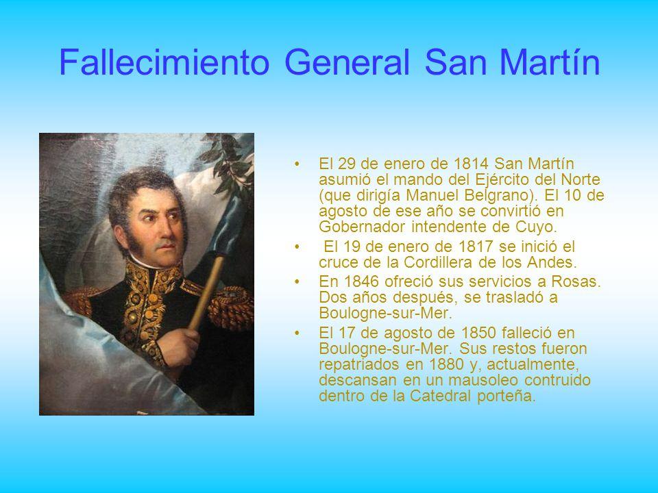 Fallecimiento General San Martín