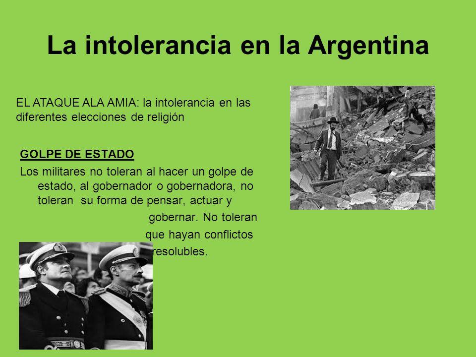 La intolerancia en la Argentina