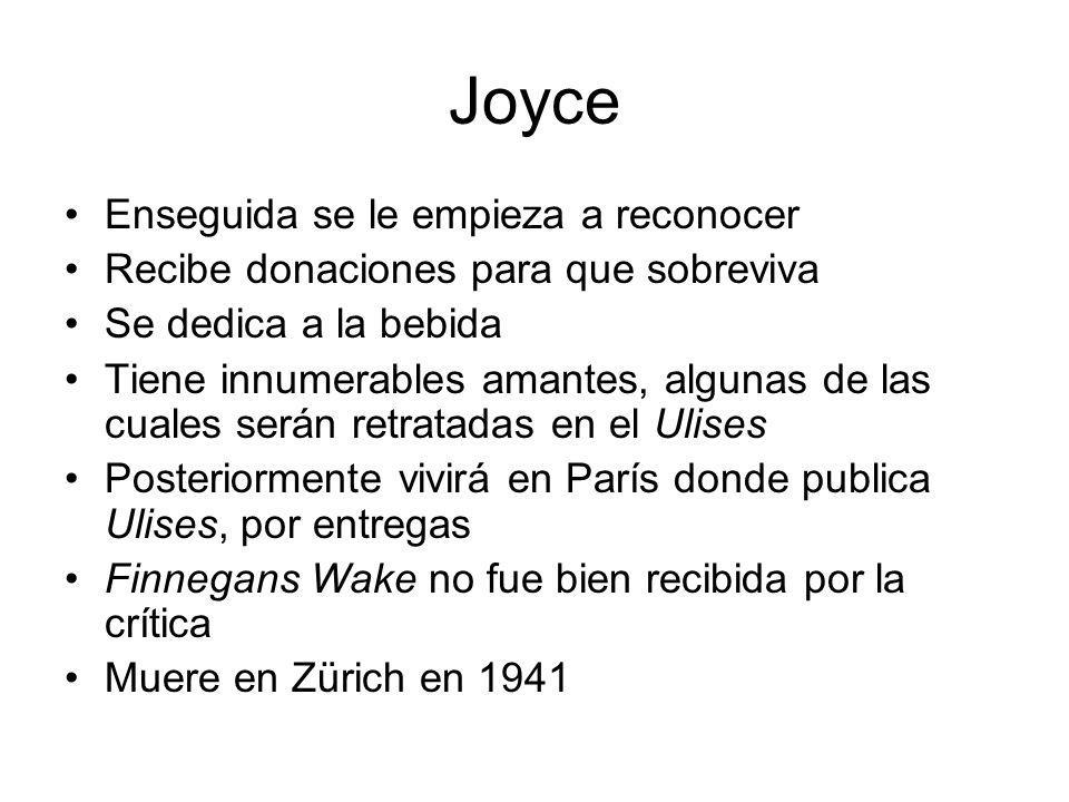 Joyce Enseguida se le empieza a reconocer
