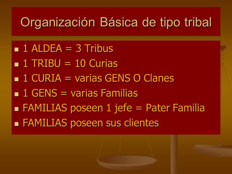 Organización Básica de tipo tribal