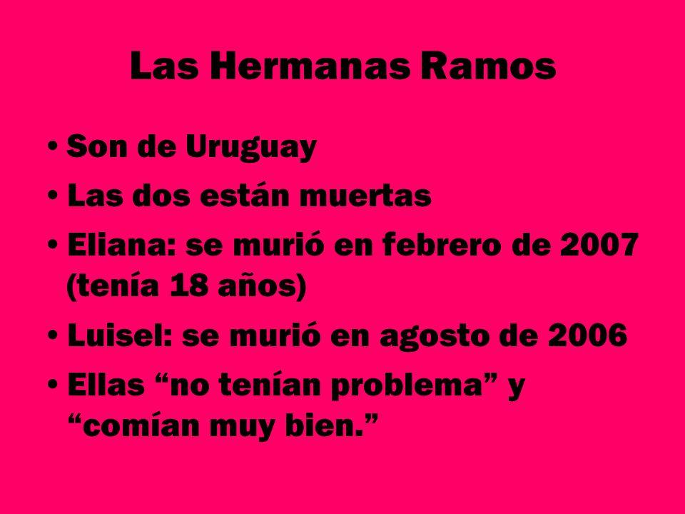 Las Hermanas Ramos Son de Uruguay Las dos están muertas