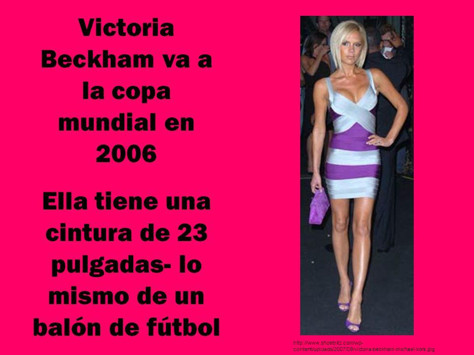 Victoria Beckham va a la copa mundial en 2006