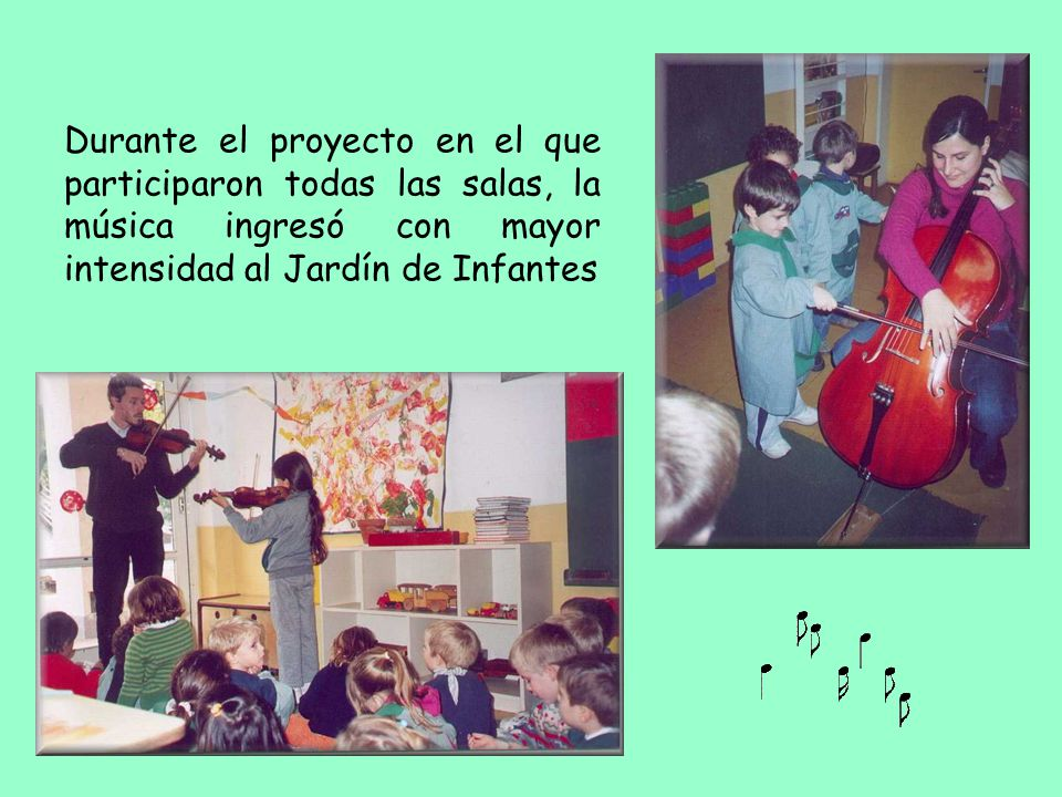 Durante el proyecto en el que participaron todas las salas, la música ingresó con mayor intensidad al Jardín de Infantes