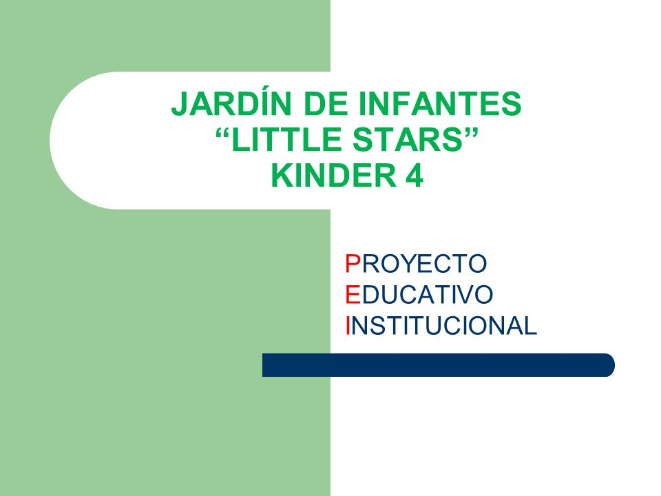 JARDÍN DE INFANTES LITTLE STARS KINDER 4