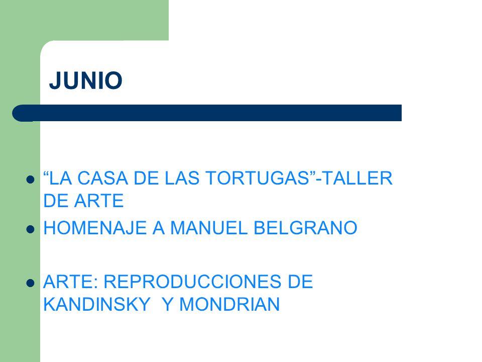 JUNIO LA CASA DE LAS TORTUGAS -TALLER DE ARTE