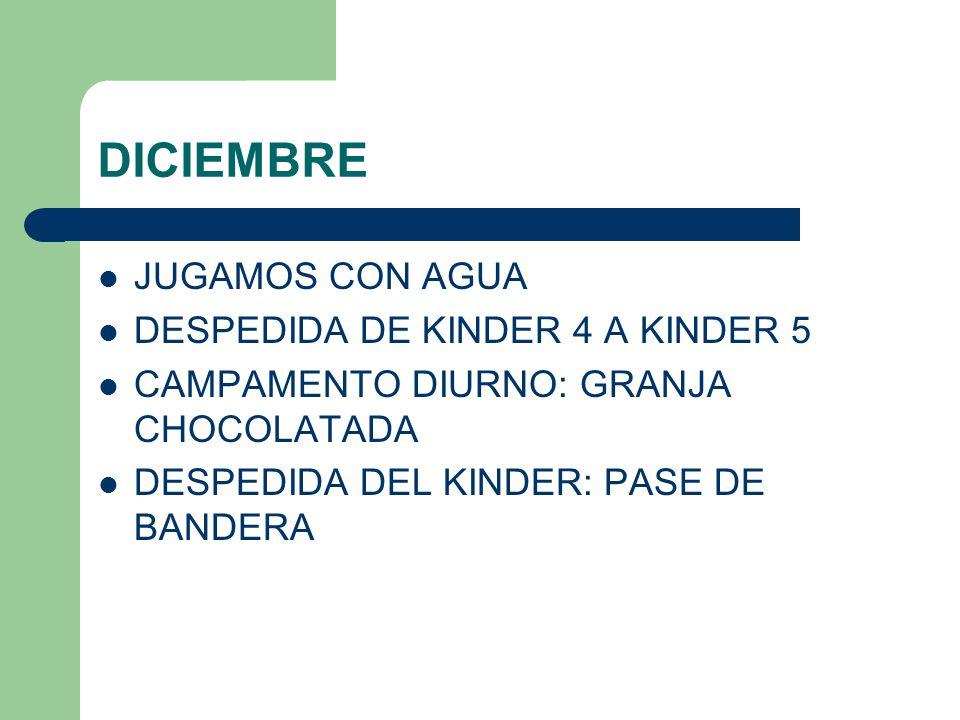 DICIEMBRE JUGAMOS CON AGUA DESPEDIDA DE KINDER 4 A KINDER 5