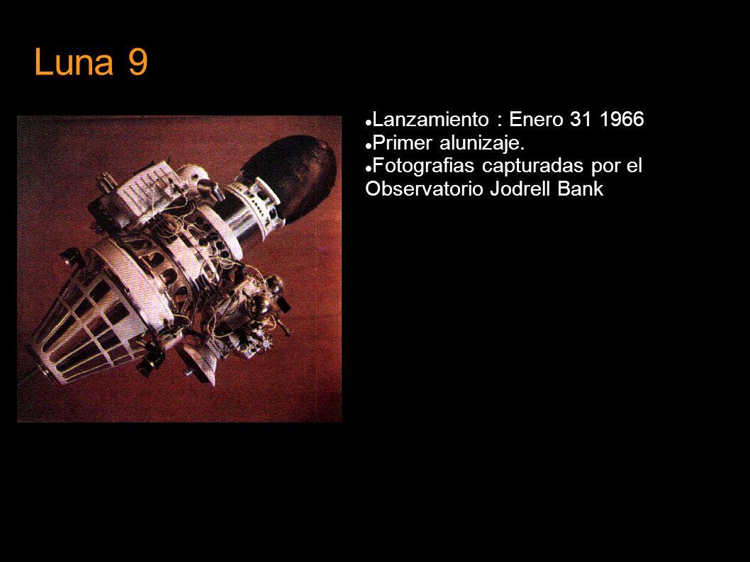 Luna 9 Lanzamiento : Enero 31 1966 Primer alunizaje.