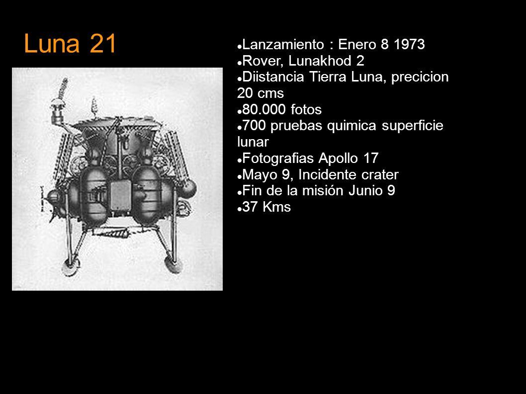 Luna 21 Lanzamiento : Enero 8 1973 Rover, Lunakhod 2