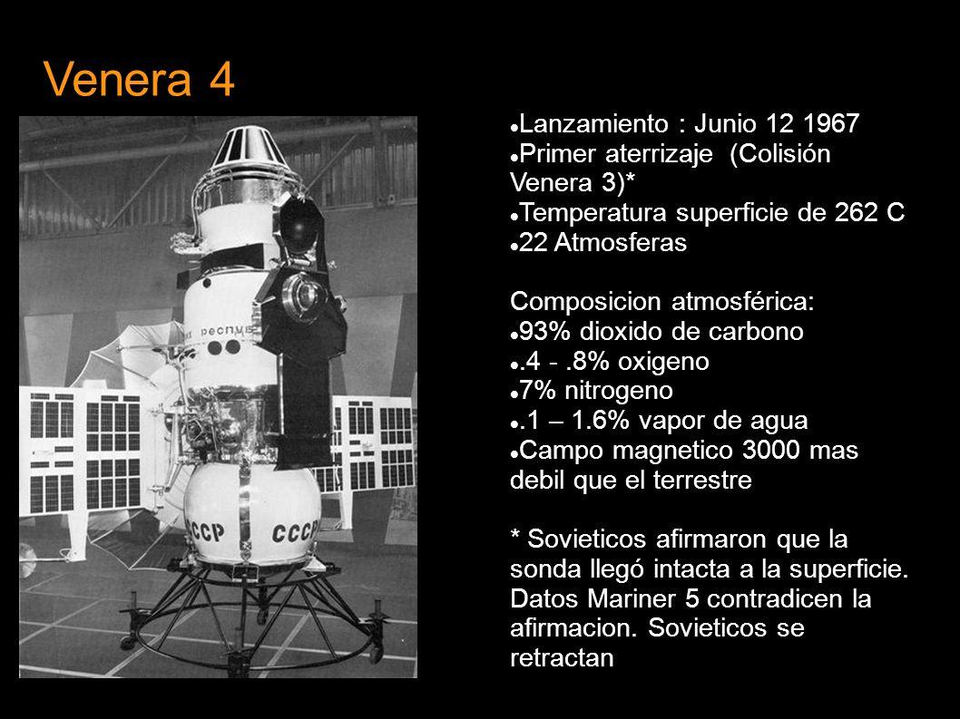 Venera 4 Lanzamiento : Junio 12 1967