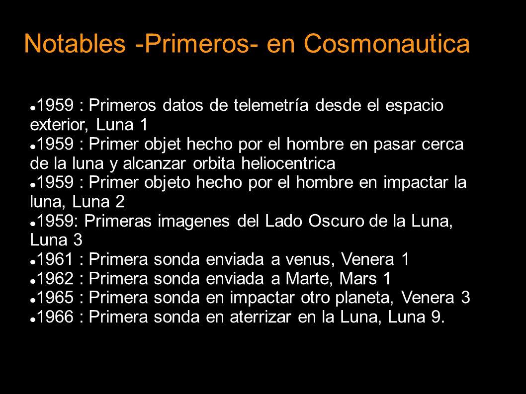 Notables -Primeros- en Cosmonautica