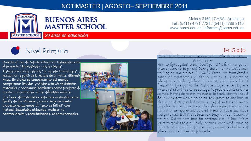 NOTIMASTER | AGOSTO– SEPTIEMBRE 2011