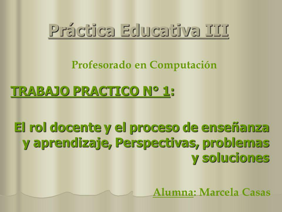 Práctica Educativa III