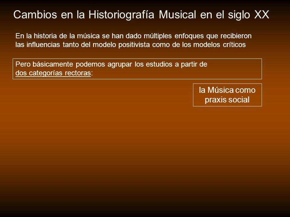 la Música como praxis social