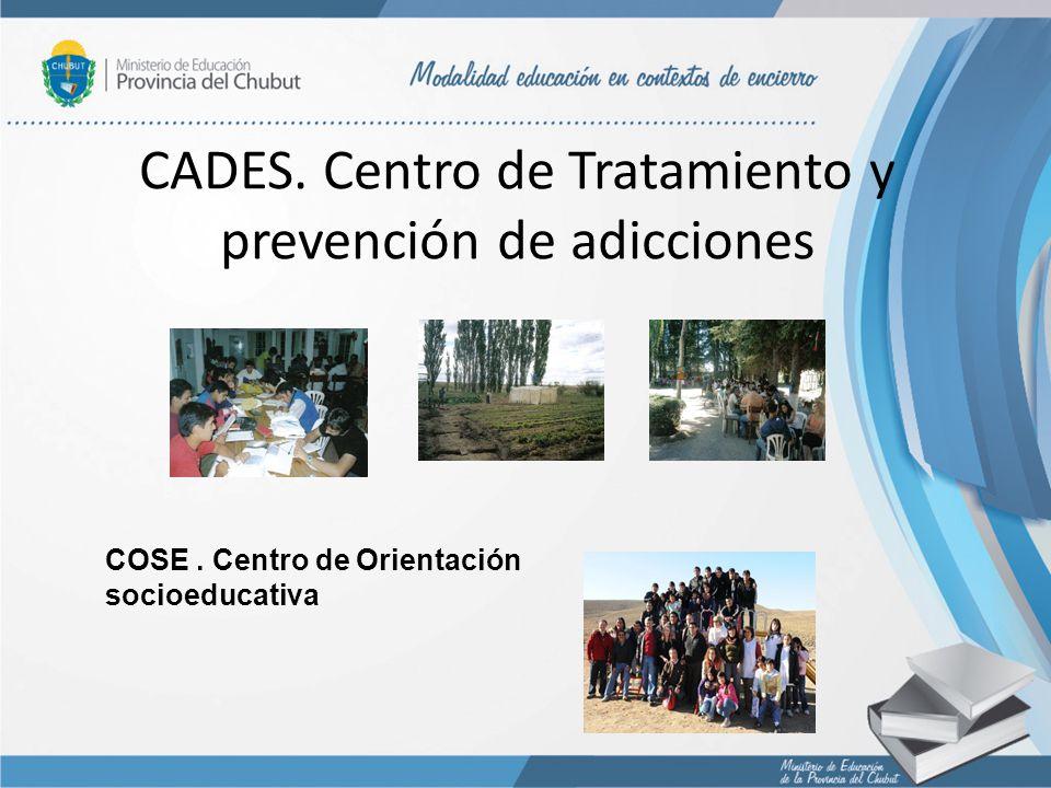 CADES. Centro de Tratamiento y prevención de adicciones