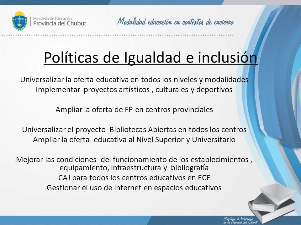 Políticas de Igualdad e inclusión