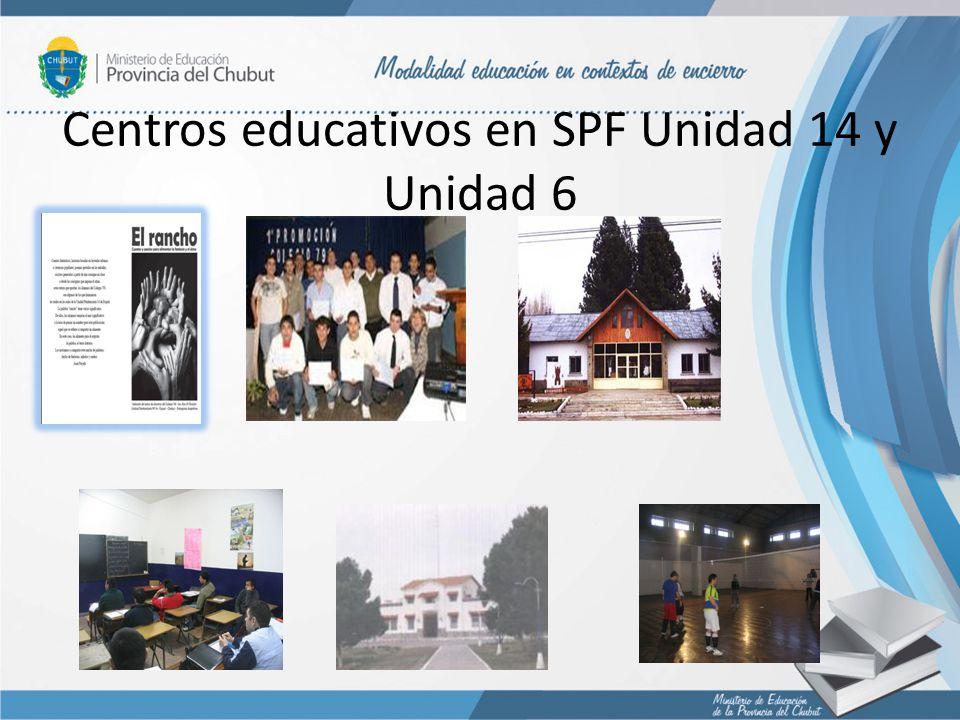 Centros educativos en SPF Unidad 14 y Unidad 6