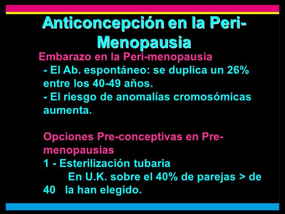 Anticoncepción en la Peri-Menopausia