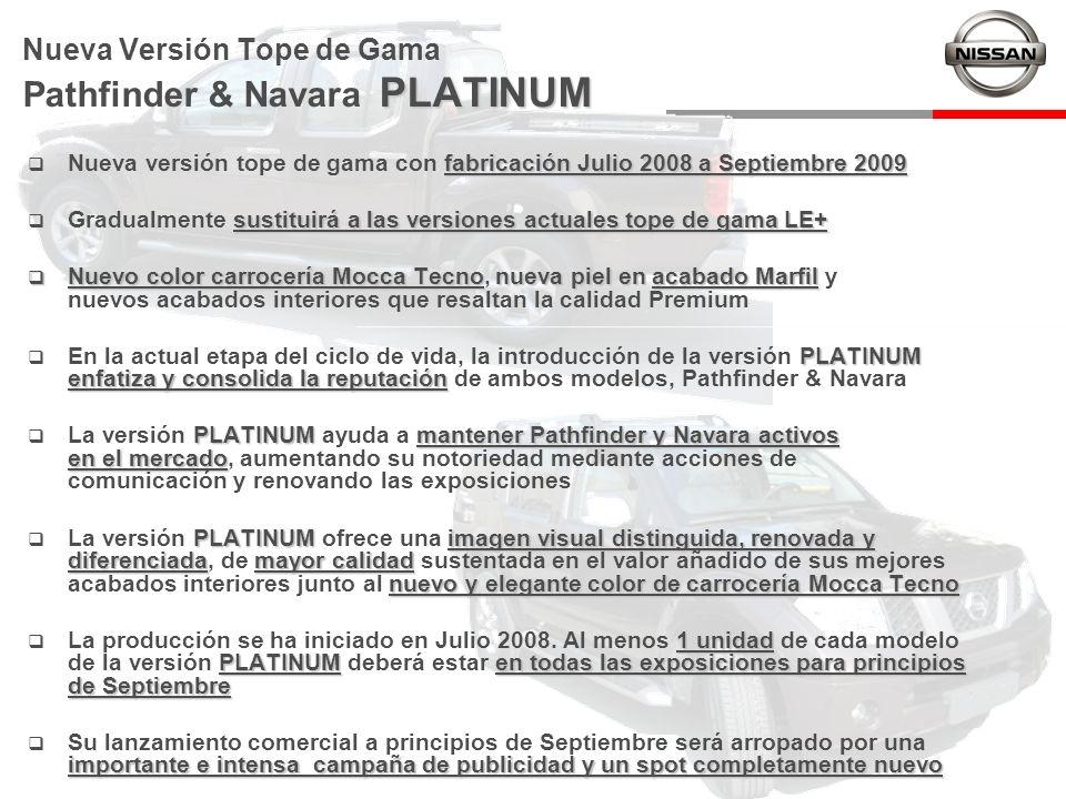 Nueva Versión Tope de Gama Pathfinder & Navara PLATINUM