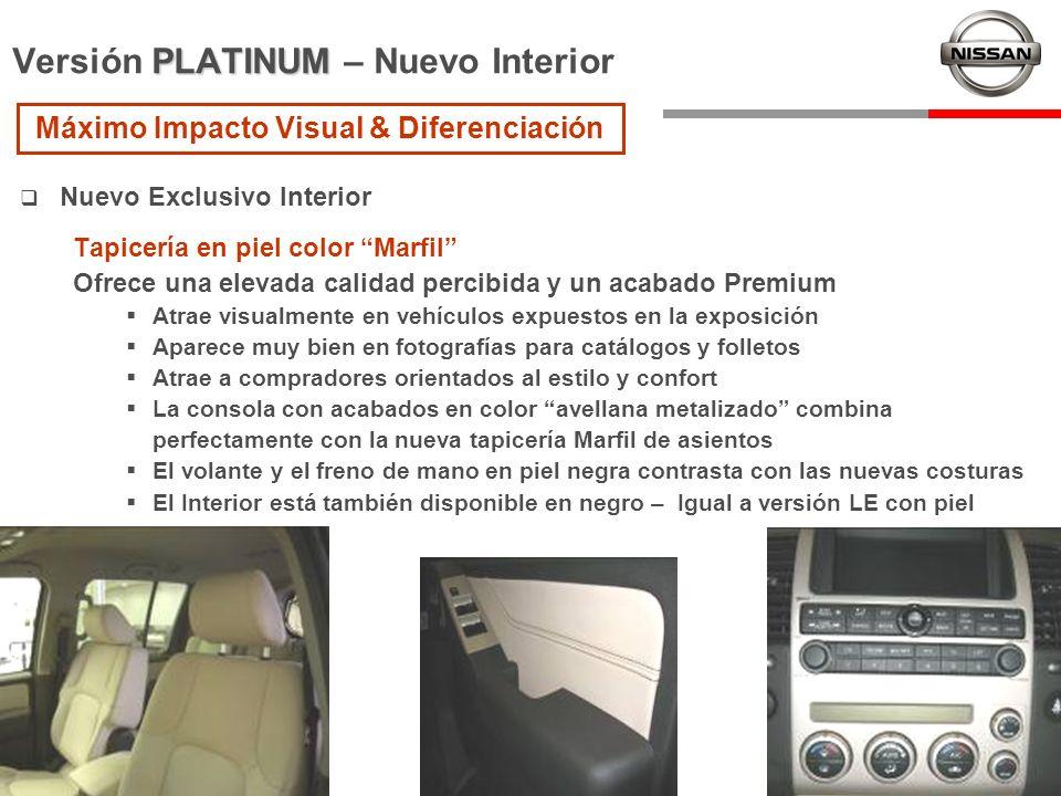 Versión PLATINUM – Nuevo Interior