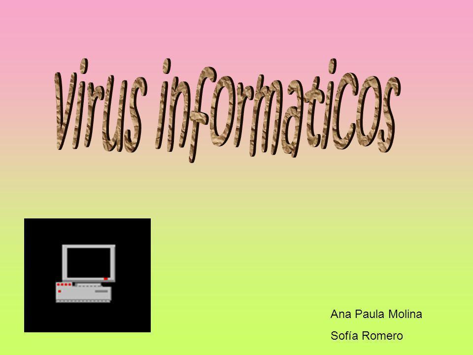 virus informaticos Ana Paula Molina Sofía Romero