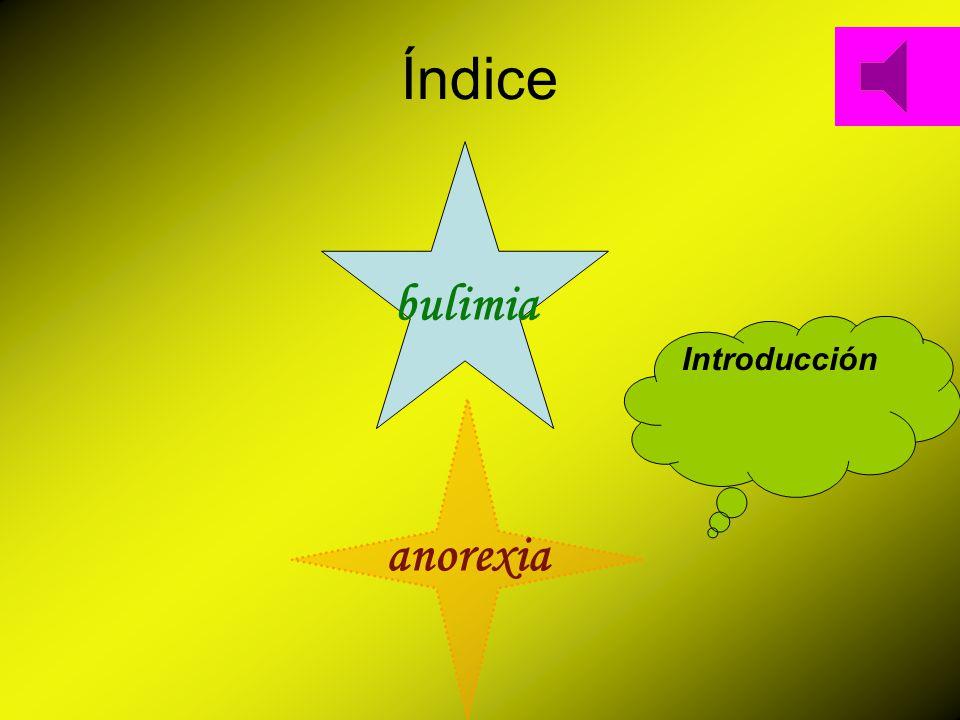Índice bulimia Introducción anorexia