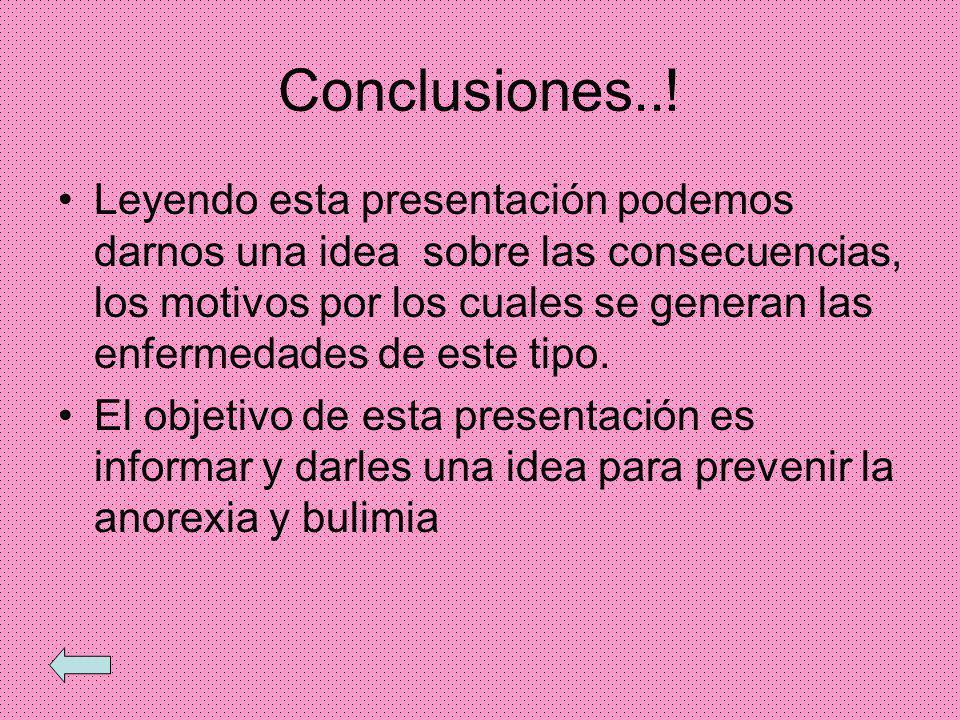 Conclusiones..!