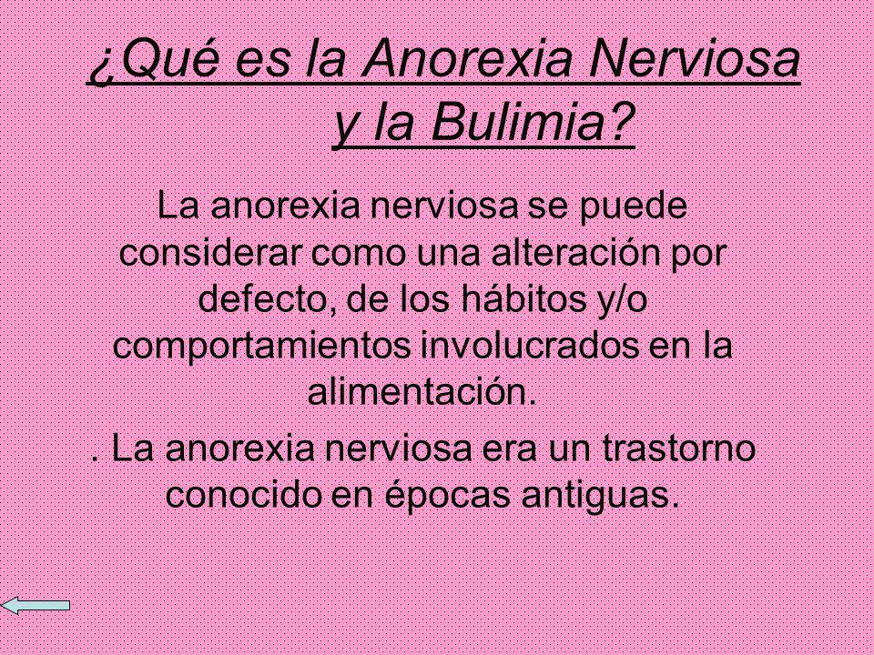 ¿Qué es la Anorexia Nerviosa y la Bulimia