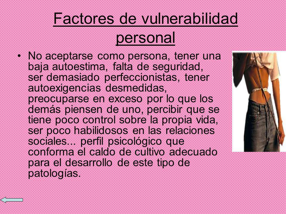 Factores de vulnerabilidad personal
