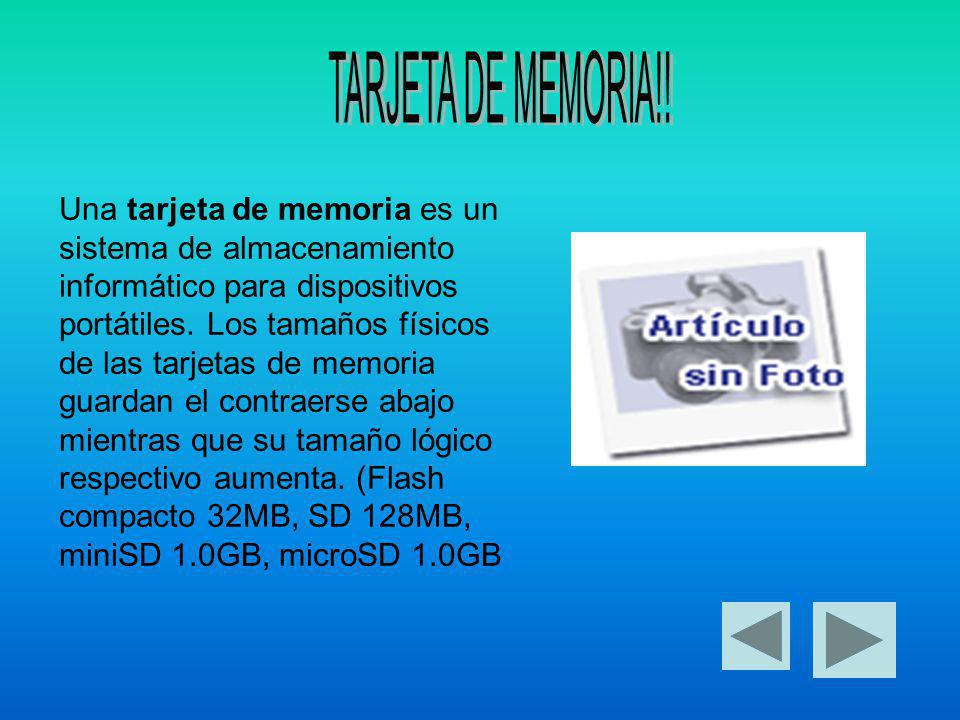 TARJETA DE MEMORIA!!