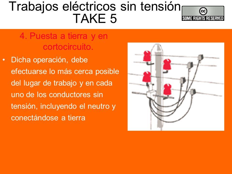 Trabajos eléctricos sin tensión TAKE 5
