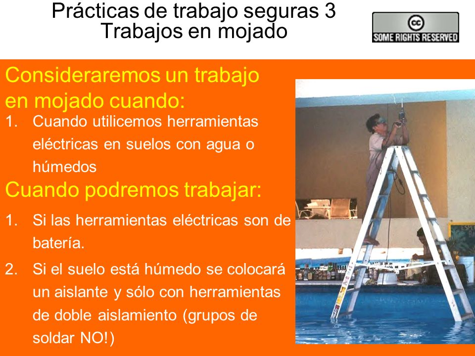 Prácticas de trabajo seguras 3 Trabajos en mojado