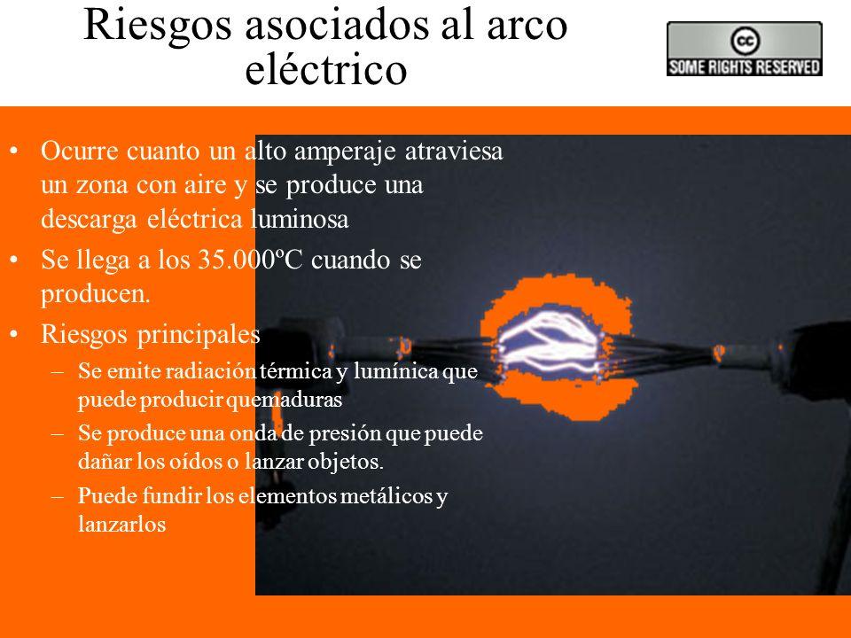 Riesgos asociados al arco eléctrico