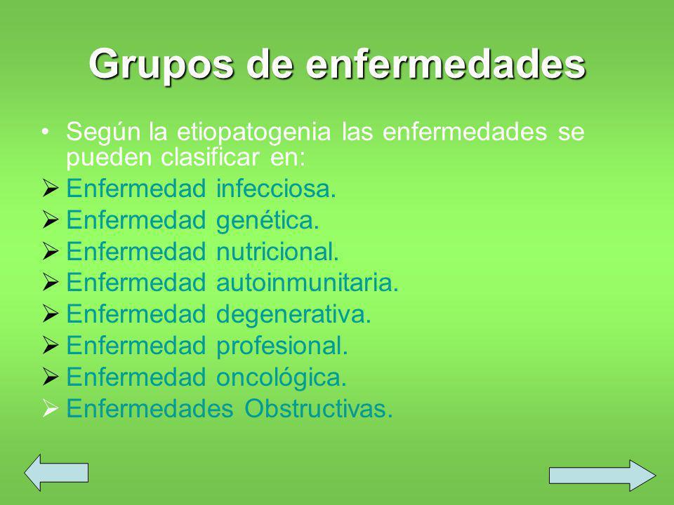 Grupos de enfermedades