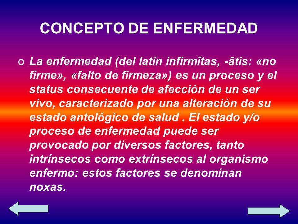 CONCEPTO DE ENFERMEDAD