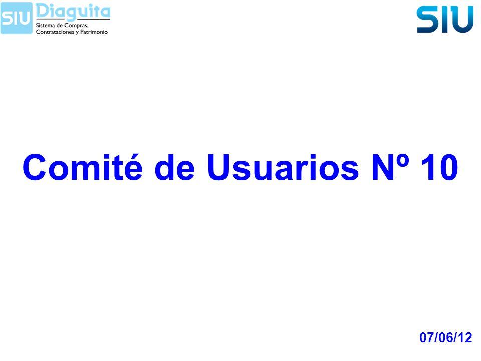 Comité de Usuarios Nº 10 07/06/12