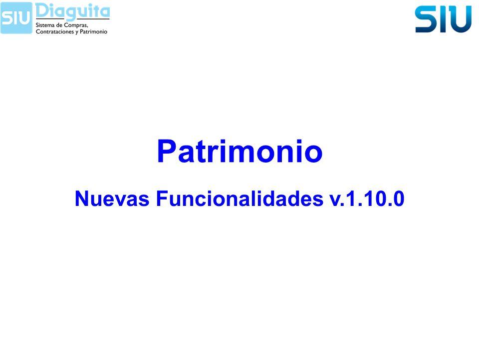 Nuevas Funcionalidades v.1.10.0