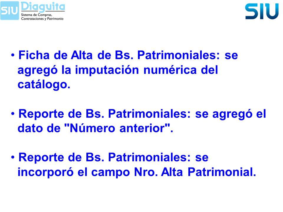 Ficha de Alta de Bs. Patrimoniales: se