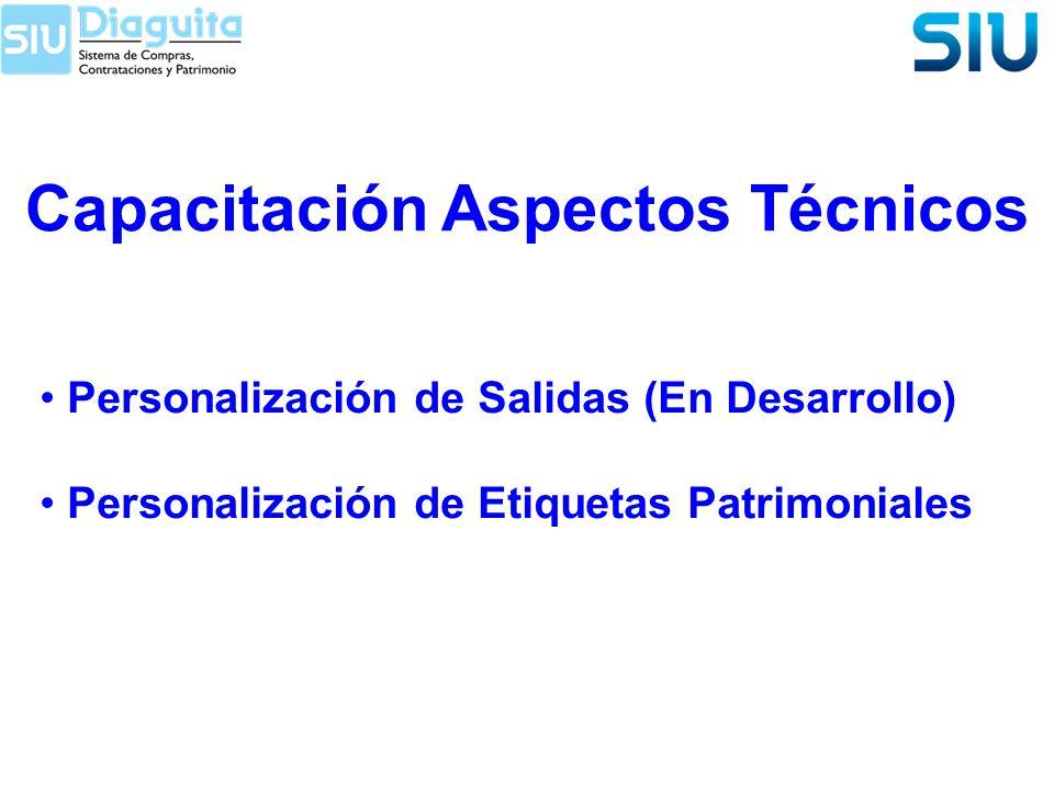 Capacitación Aspectos Técnicos