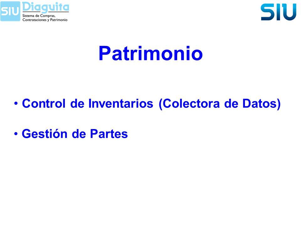 Patrimonio Control de Inventarios (Colectora de Datos)