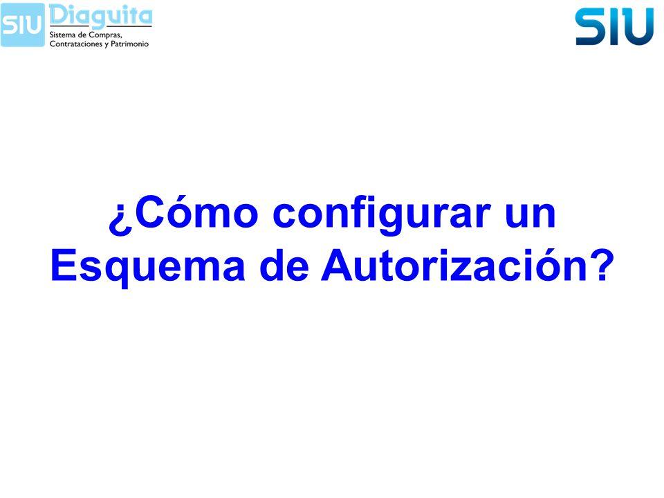 ¿Cómo configurar un Esquema de Autorización