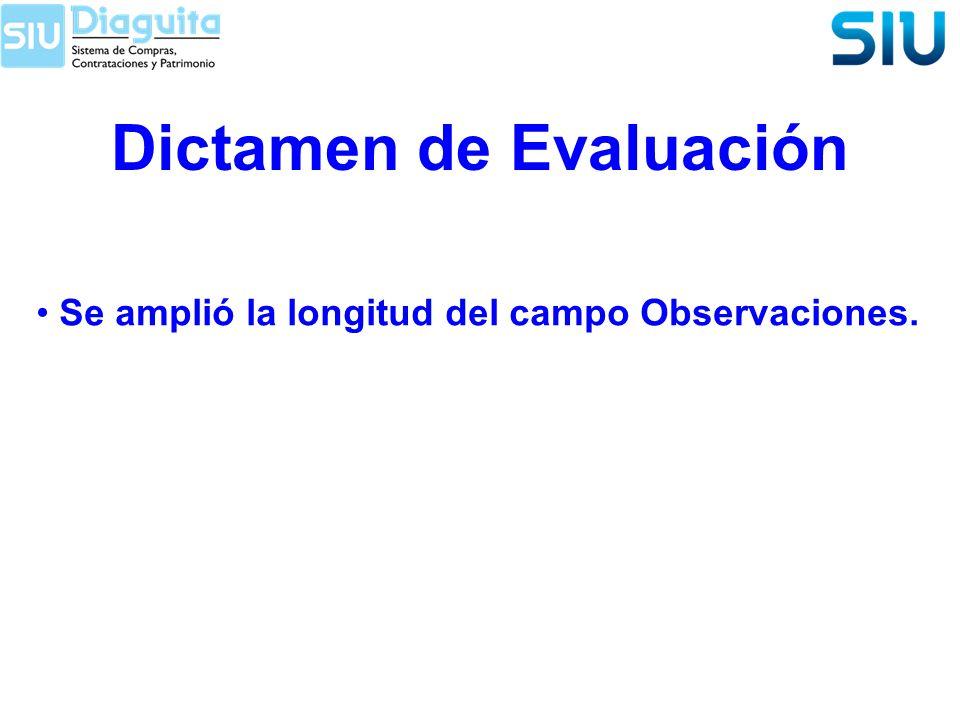 Dictamen de Evaluación