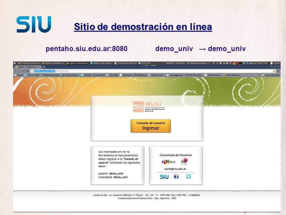 Sitio de demostración en línea