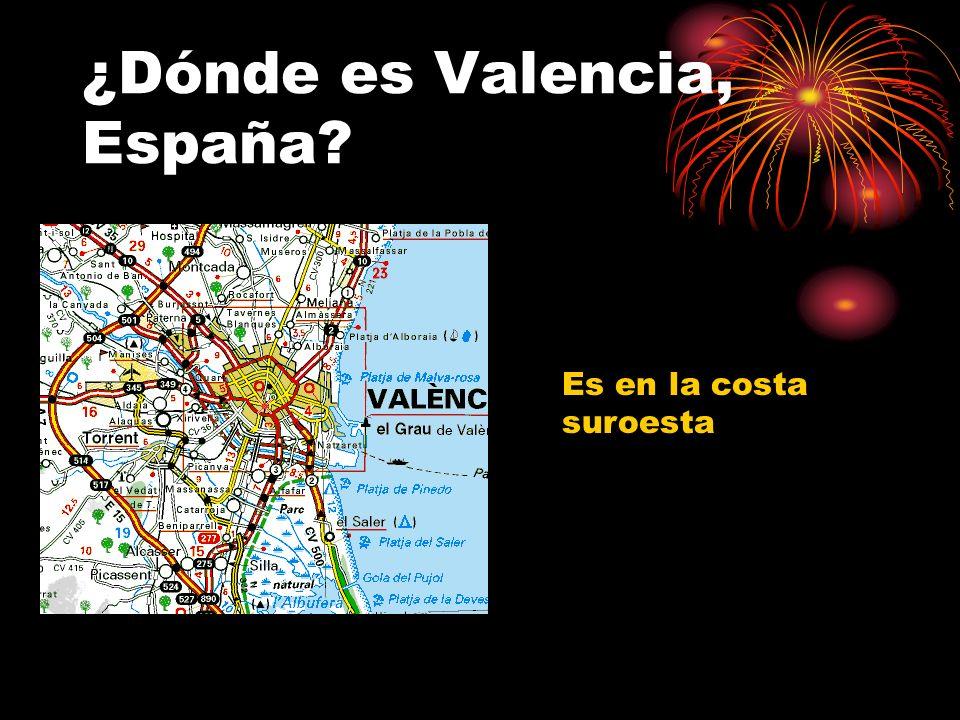 ¿Dónde es Valencia, España