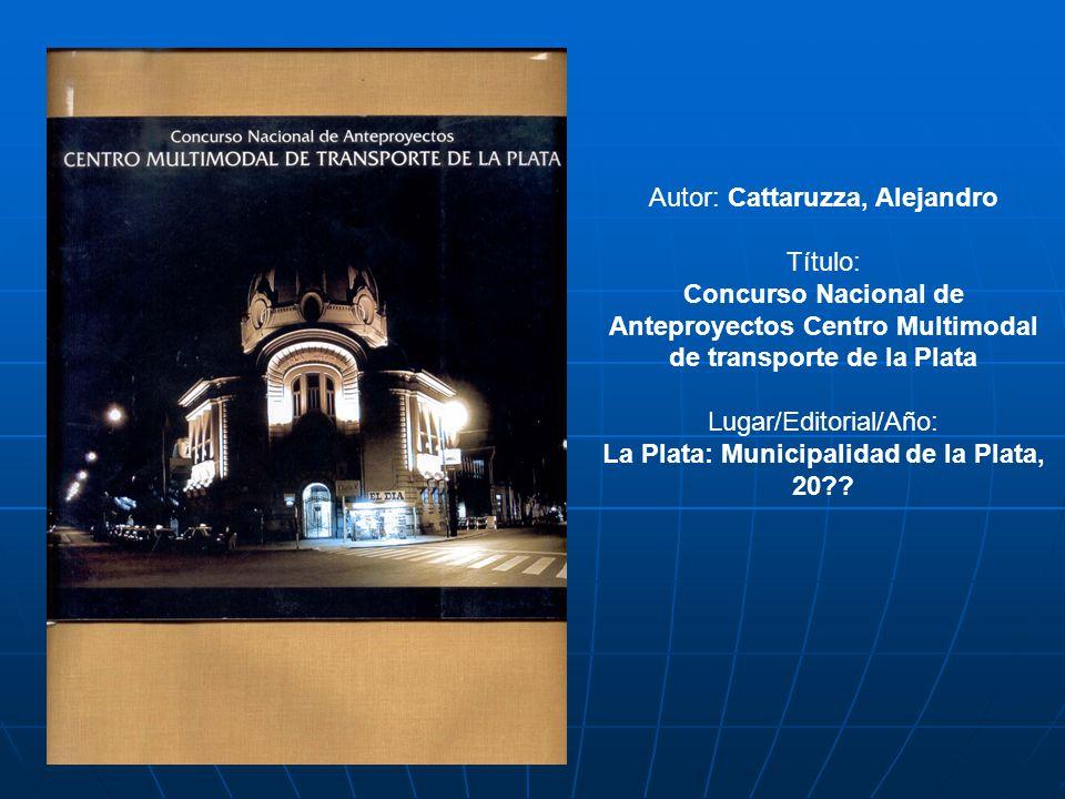 La Plata: Municipalidad de la Plata, 20