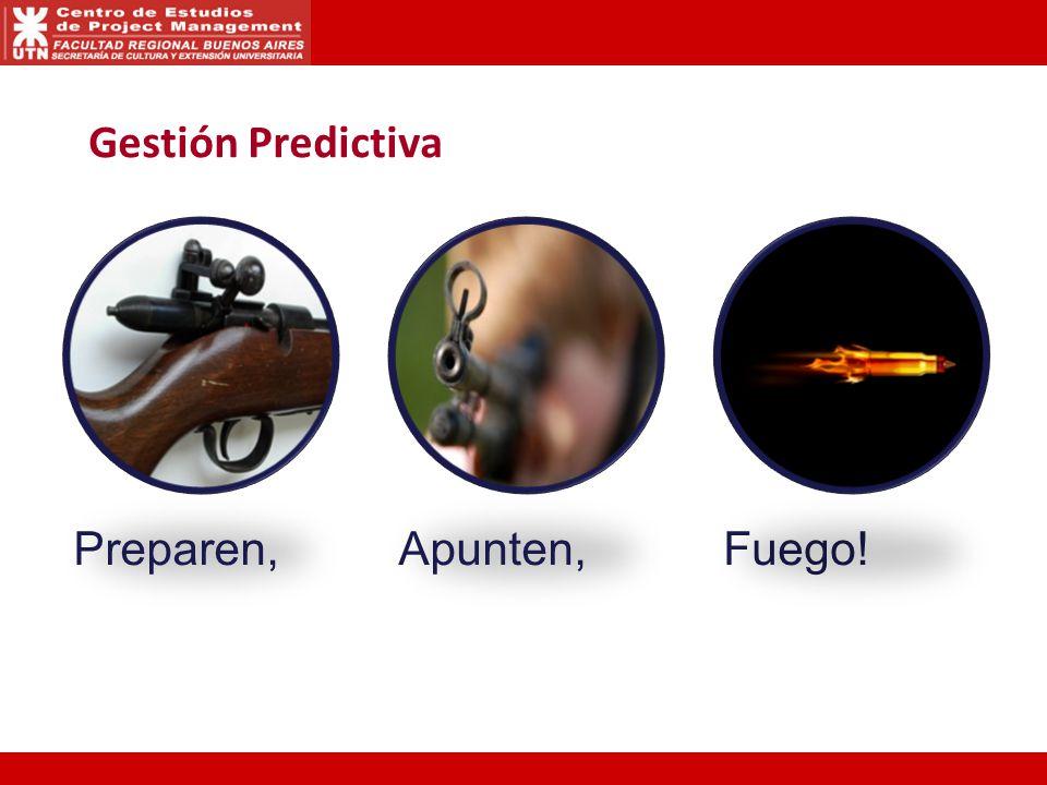Gestión Predictiva Preparen, Apunten, Fuego!