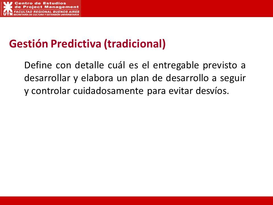 Gestión Predictiva (tradicional)