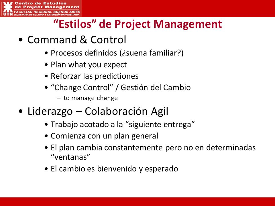 Estilos de Project Management