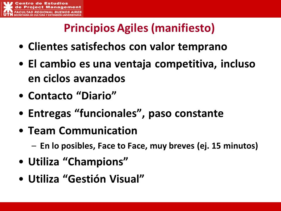 Principios Agiles (manifiesto)