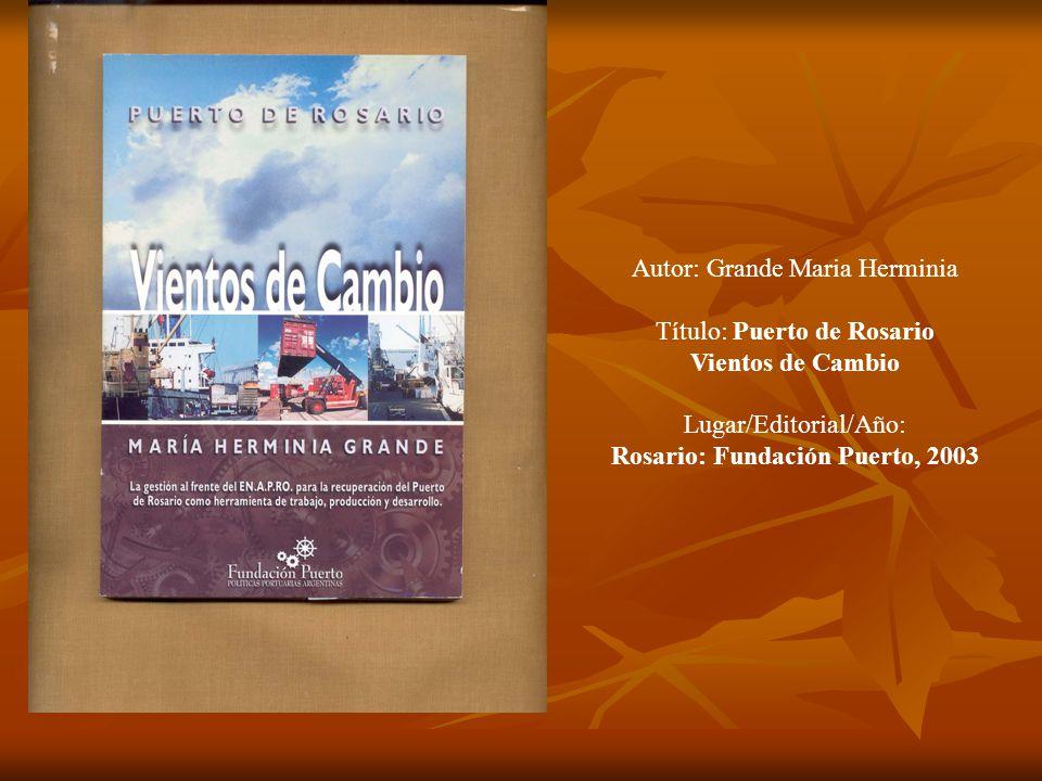 Rosario: Fundación Puerto, 2003